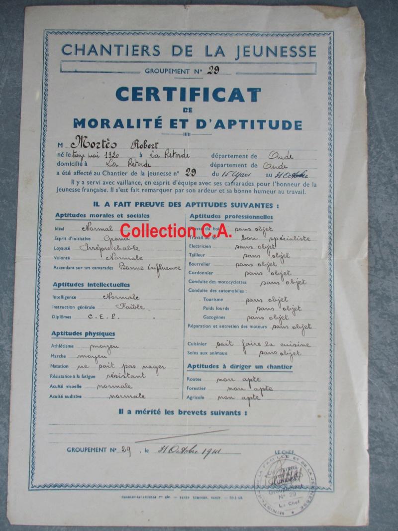 Le certificat de moralité et d'aptitude des Chantiers de Jeunesse (Régime Vichy) Img_6332