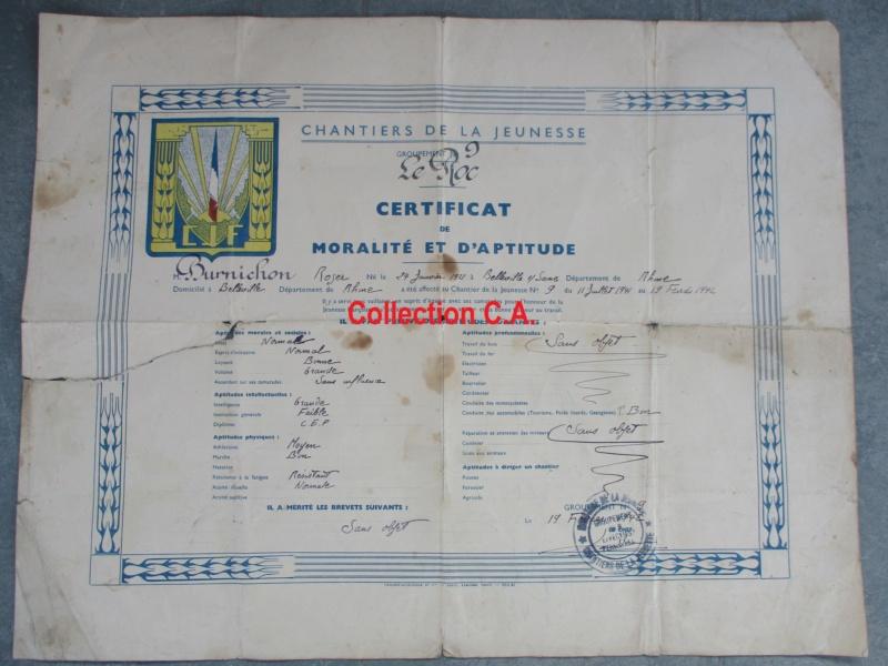 Le certificat de moralité et d'aptitude des Chantiers de Jeunesse (Régime Vichy) Img_6336