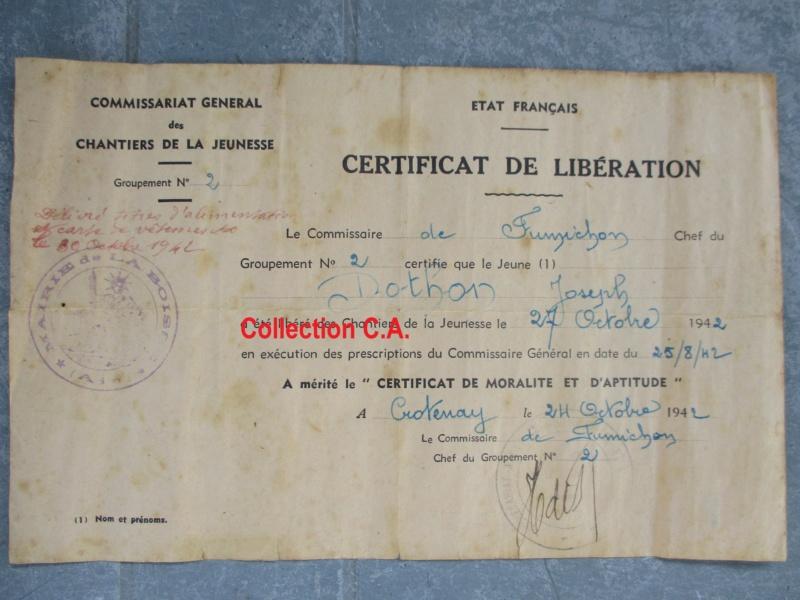 Le certificat de moralité et d'aptitude des Chantiers de Jeunesse (Régime Vichy) Img_6337