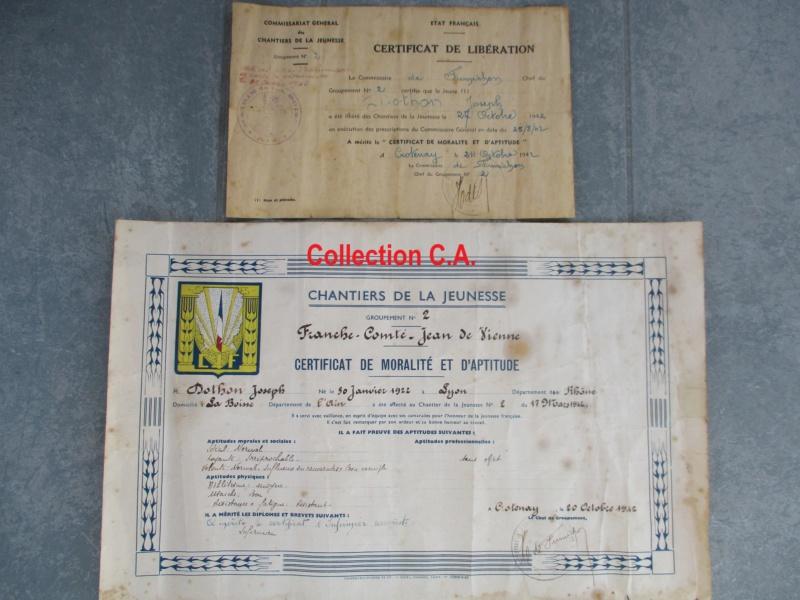 Le certificat de moralité et d'aptitude des Chantiers de Jeunesse (Régime Vichy) Img_6338