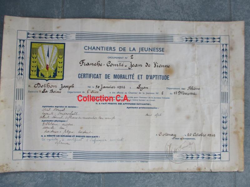 Le certificat de moralité et d'aptitude des Chantiers de Jeunesse (Régime Vichy) Img_6339