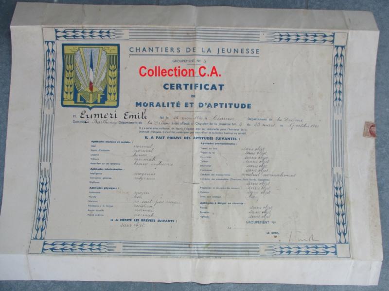 Le certificat de moralité et d'aptitude des Chantiers de Jeunesse (Régime Vichy) Img_6340