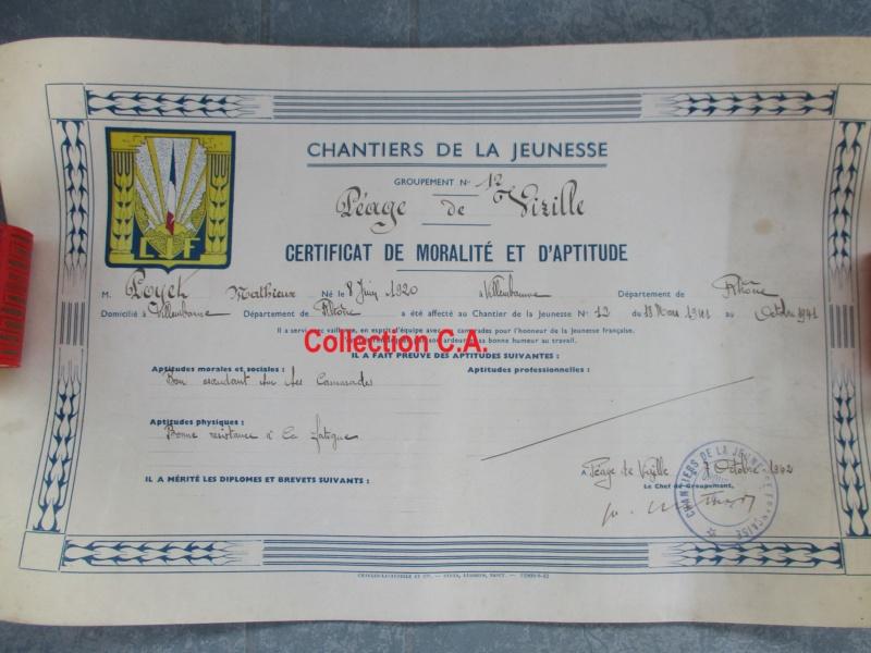 Le certificat de moralité et d'aptitude des Chantiers de Jeunesse (Régime Vichy) Img_6342