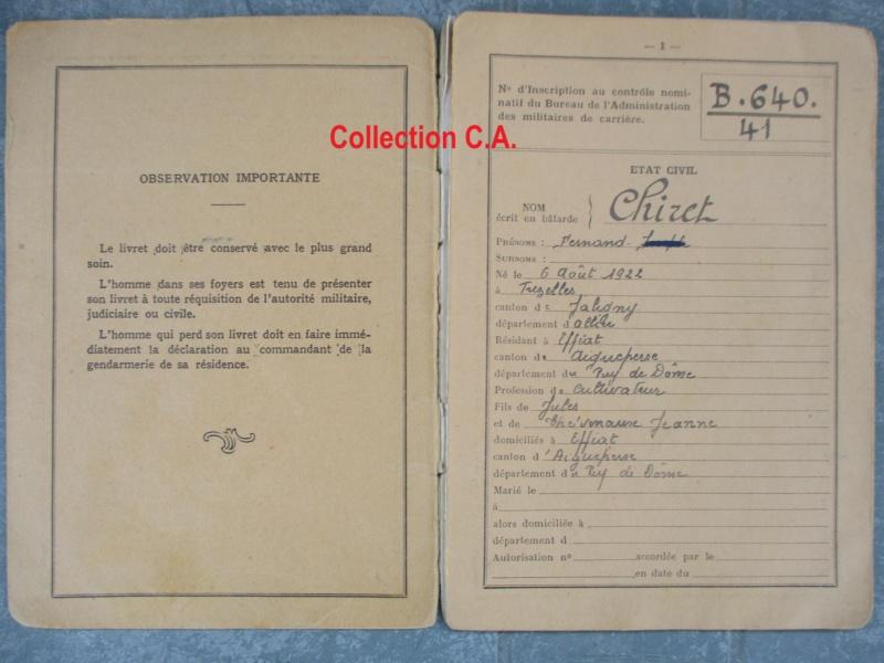 Le livret individuel (militaire) Type Armée d'armistice (Régime de Vichy) Img_6372