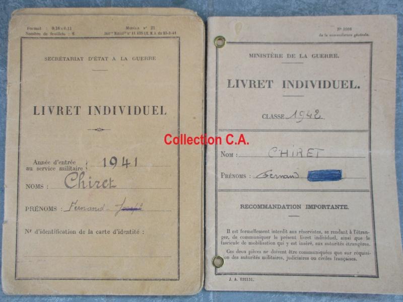 Le livret individuel (militaire) Type Armée d'armistice (Régime de Vichy) Img_6373