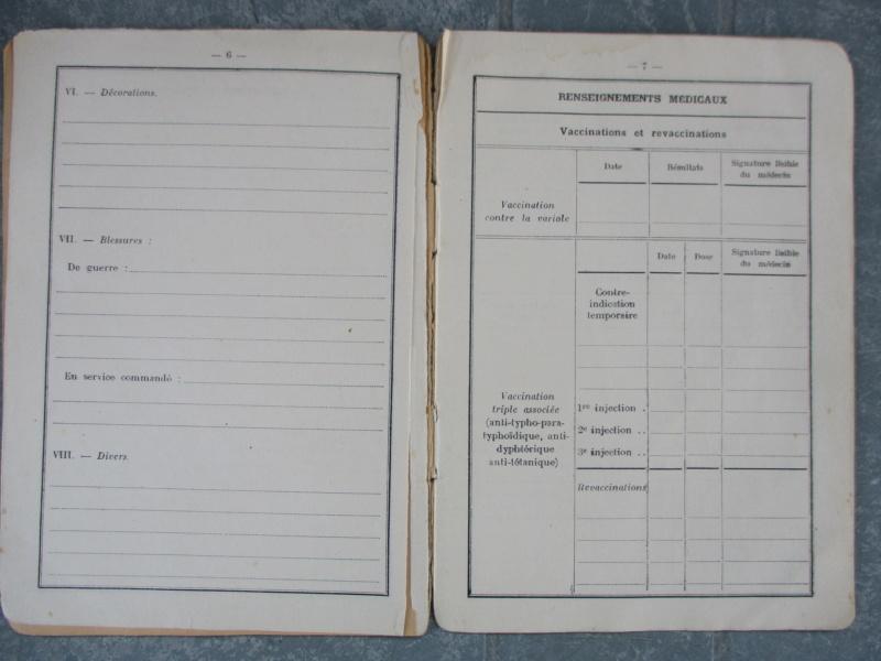 Le livret individuel (militaire) Type Armée d'armistice (Régime de Vichy) Img_6374