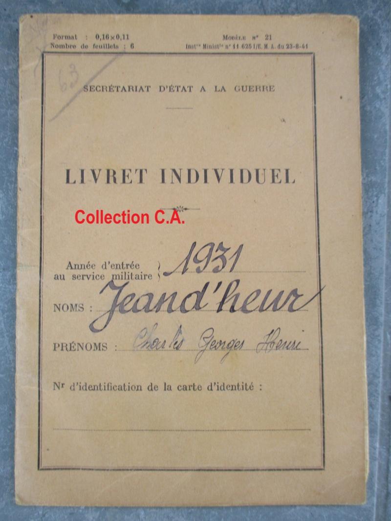 Le livret individuel (militaire) Type Armée d'armistice (Régime de Vichy) Img_6413