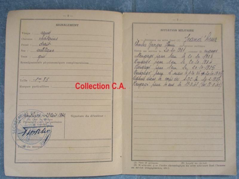 Le livret individuel (militaire) Type Armée d'armistice (Régime de Vichy) Img_6414