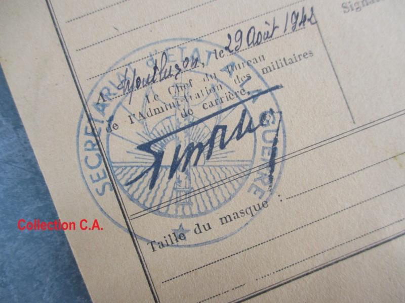 Le livret individuel (militaire) Type Armée d'armistice (Régime de Vichy) Img_6415