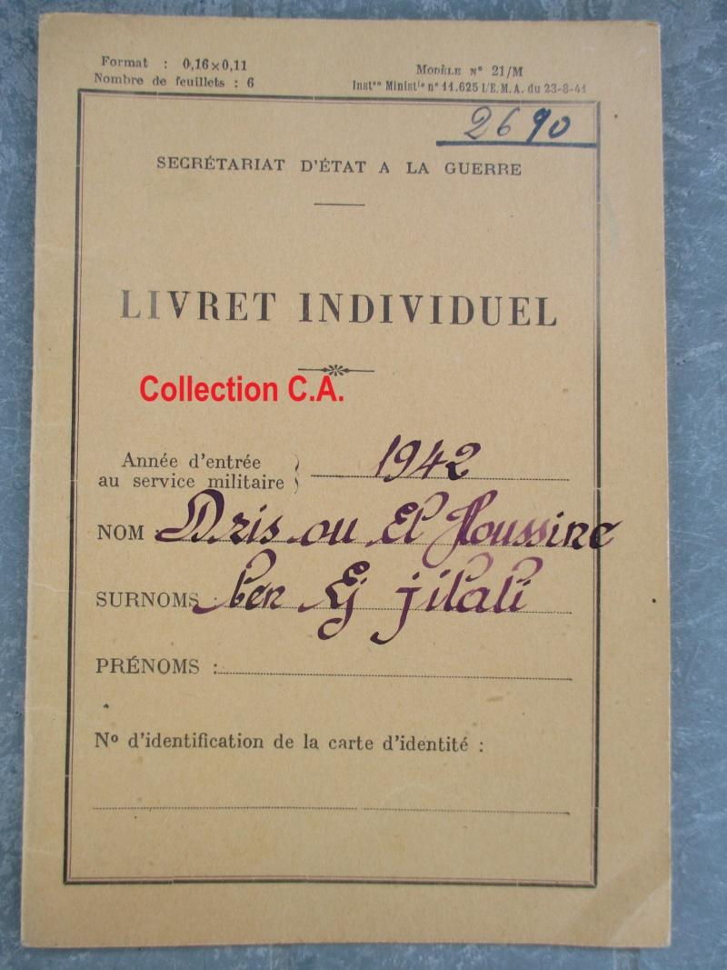 Le livret individuel (militaire) Type Armée d'armistice (Régime de Vichy) Img_6421
