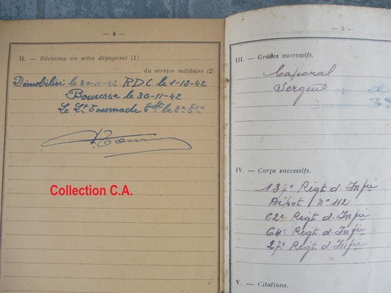 Le livret individuel (militaire) Type Armée d'armistice (Régime de Vichy) Img_6425