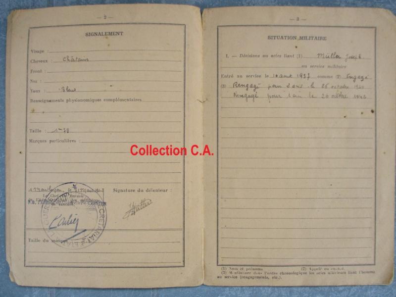 Le livret individuel (militaire) Type Armée d'armistice (Régime de Vichy) Img_6426