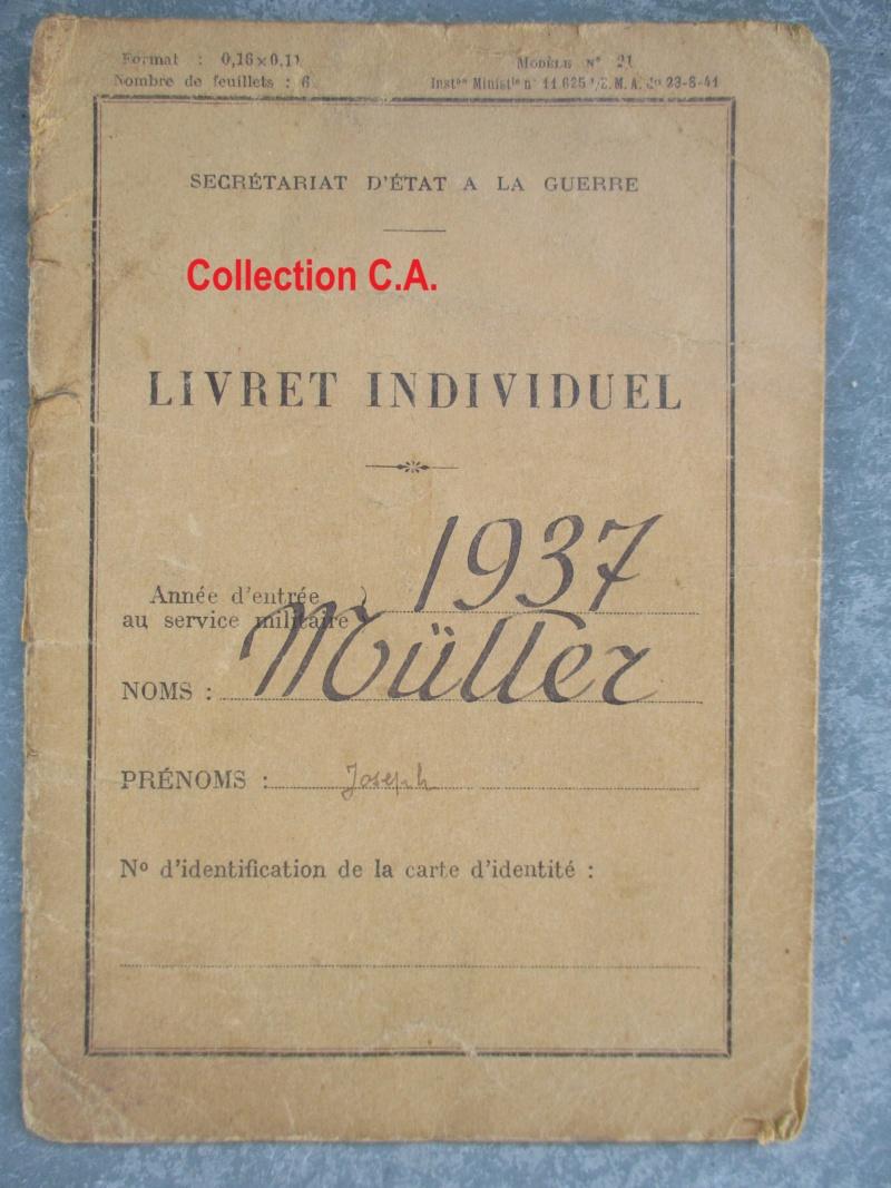 Le livret individuel (militaire) Type Armée d'armistice (Régime de Vichy) Img_6427