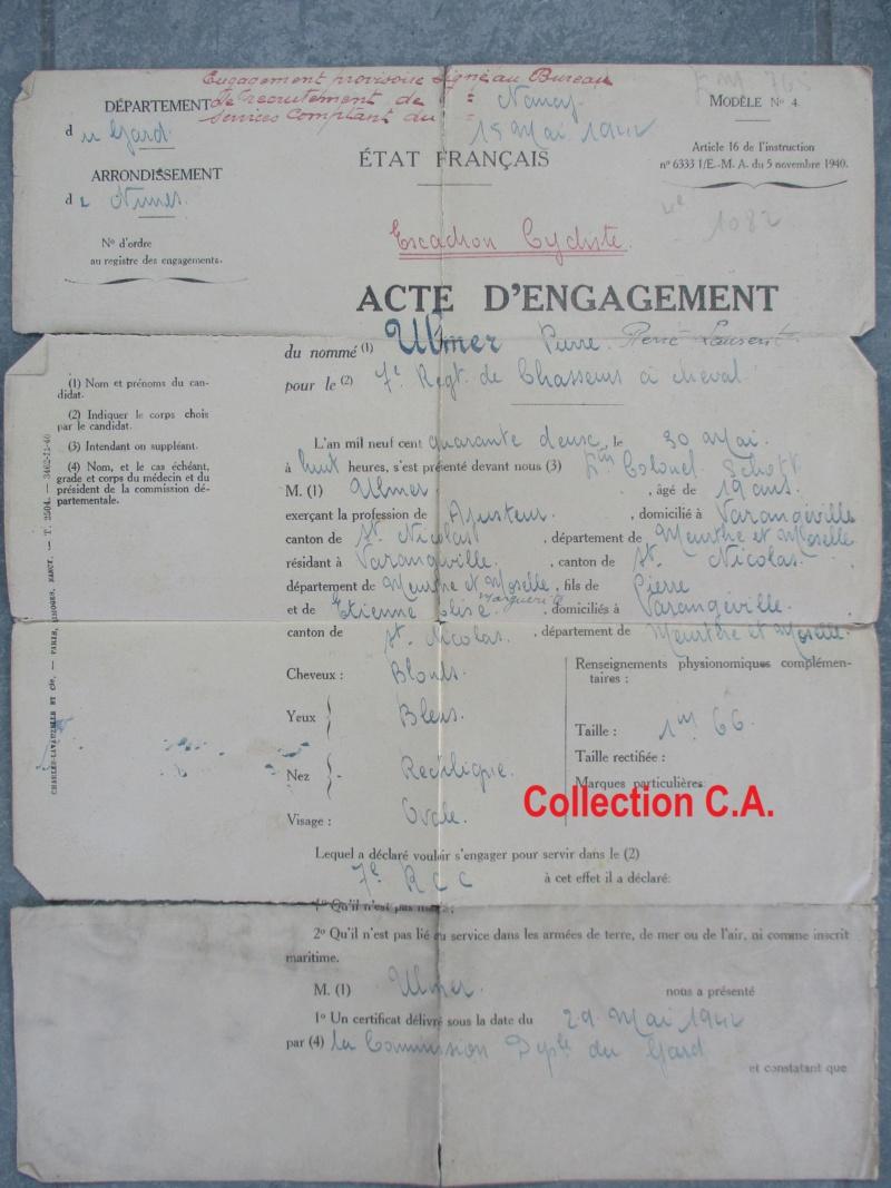 Le livret individuel (militaire) Type Armée d'armistice (Régime de Vichy) Img_6531