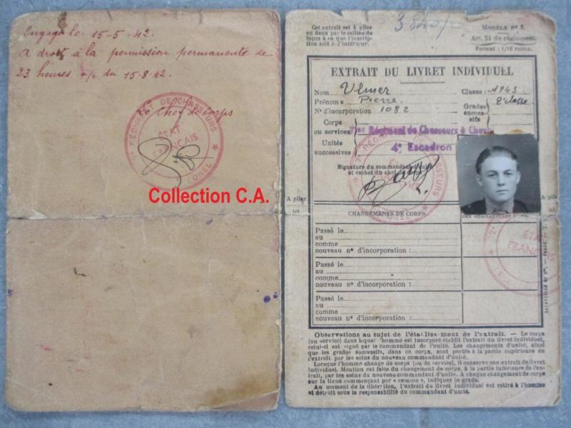 Le livret individuel (militaire) Type Armée d'armistice (Régime de Vichy) Img_6532