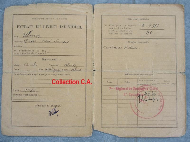 Le livret individuel (militaire) Type Armée d'armistice (Régime de Vichy) Img_6533
