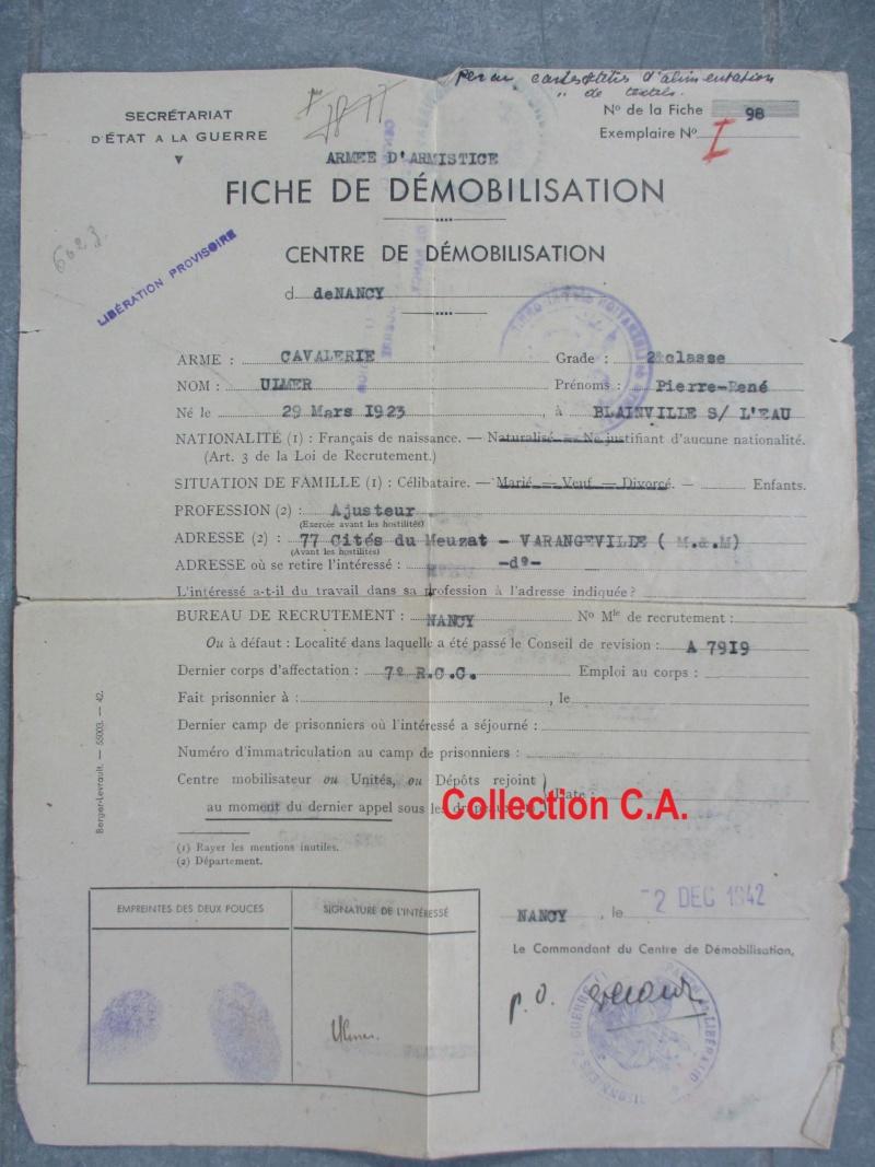 Le livret individuel (militaire) Type Armée d'armistice (Régime de Vichy) Img_6535