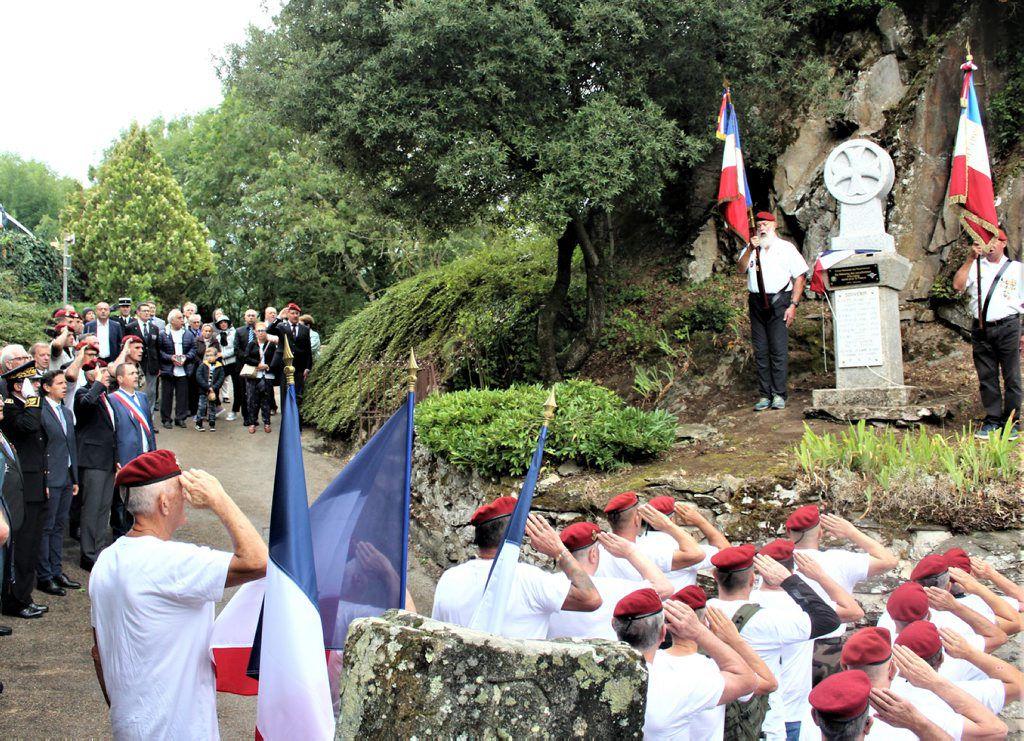 Mazamet. Une stèle pour les «paras» inaugurée à Hautpoul Image13