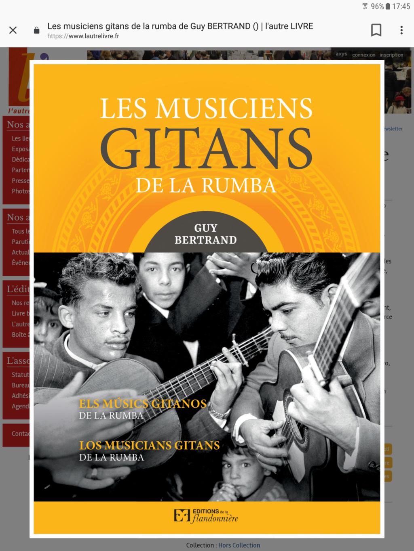 Magnifique livre    Les musiciens Gitans de la Rumba     en Librairie  Screen10
