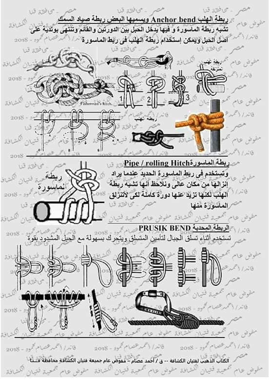 كتاب الحبال والعقد والربطات  46351610