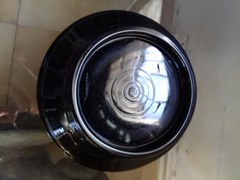 Paire de vases bicouche, sur socles en verre Pairev14