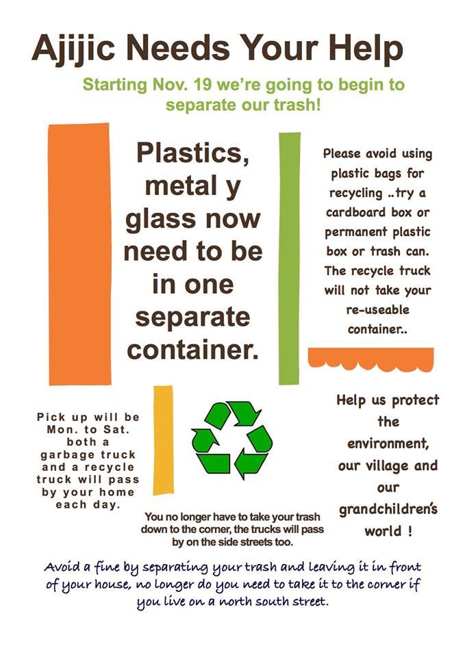 Recycling starts today in Ajijic 46482110