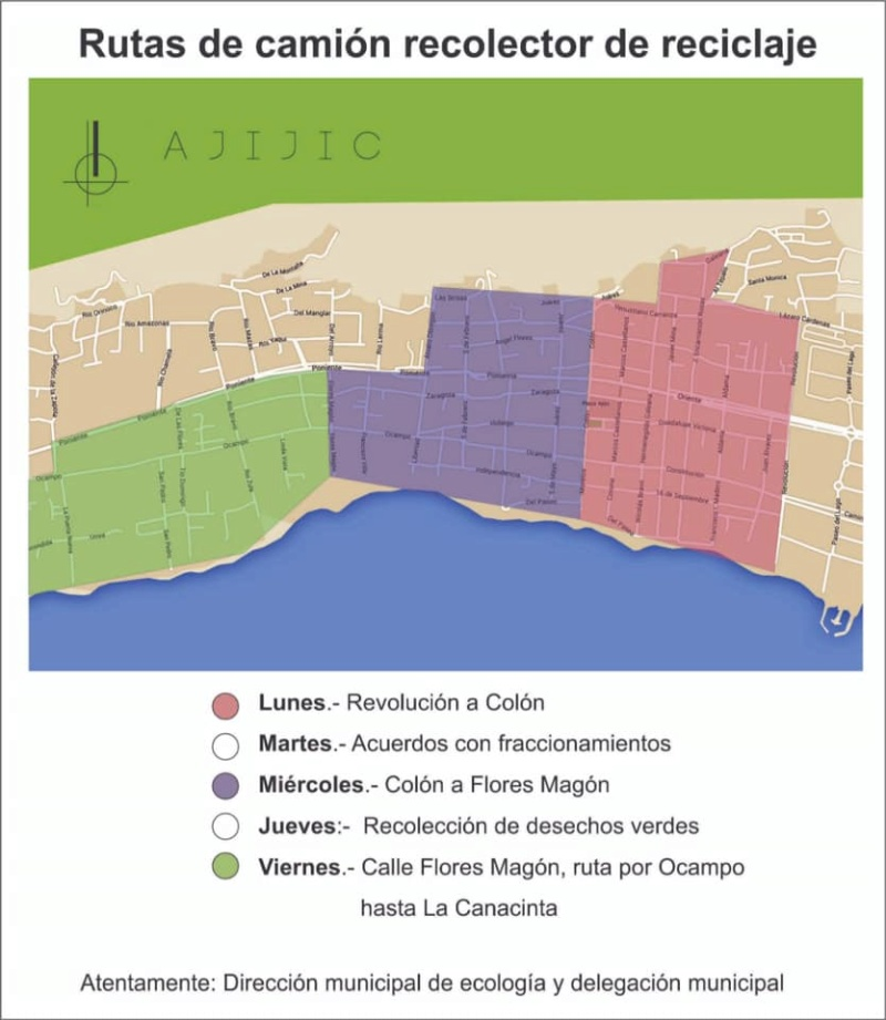 Recycling pick-up schedule in Ajijic 51911310