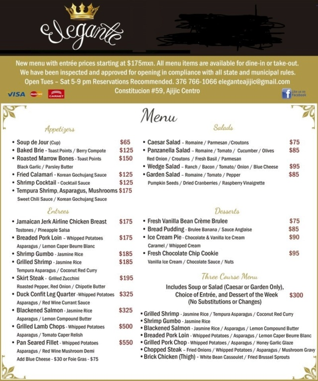 Elegante Full Menu Available for Take-out or Dine-in Full_m10