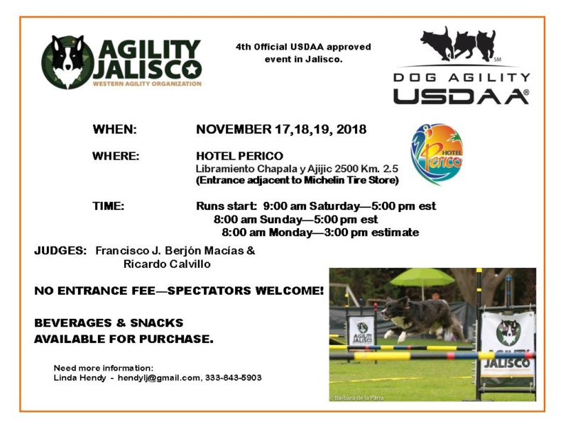 Dog Agility Competition at Hotel Perico - Nov. 17, 18 & 19, 2018 Poster11
