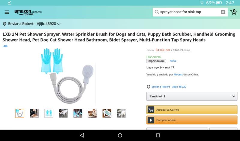 Need a sink sprayer hose Screen15