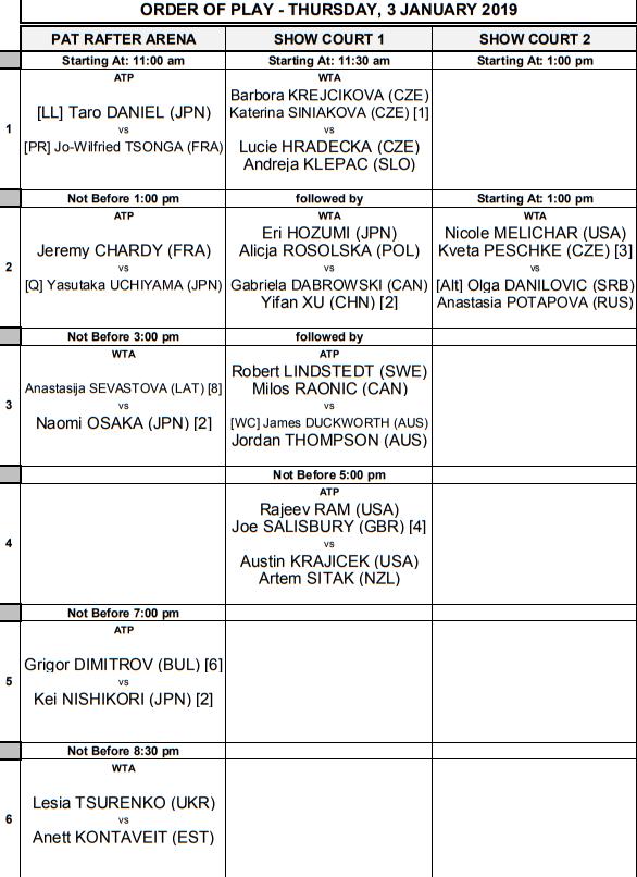 WTA BRISBANE 2019 - Page 5 Unti1743