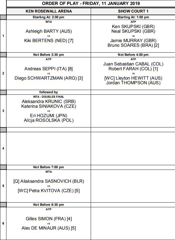 WTA SYDNEY 2019 - Page 5 Unti1903