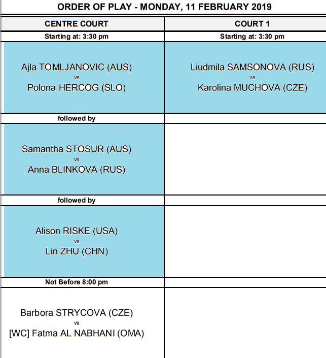 WTA DOHA 2019 Unti2218