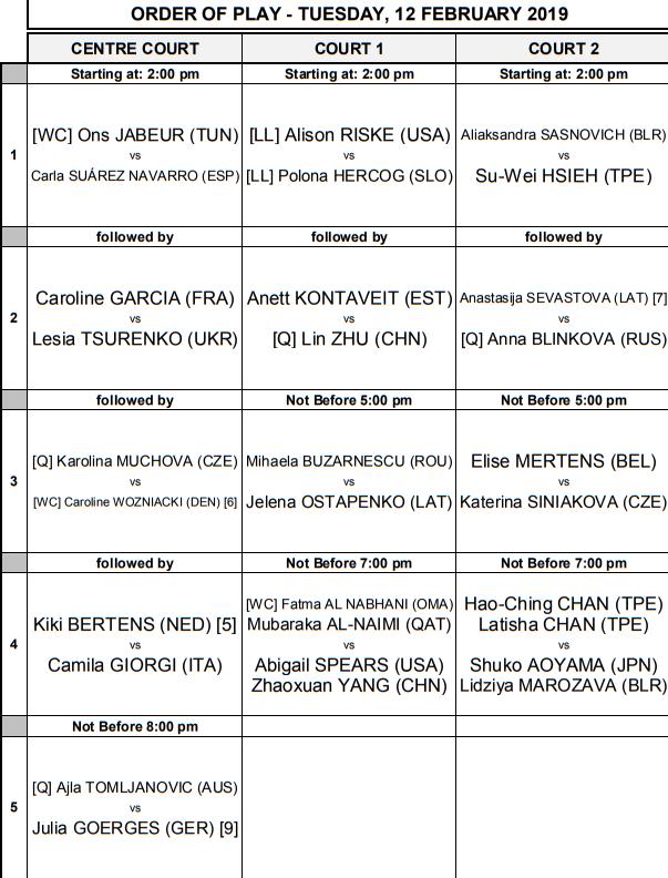 WTA DOHA 2019 - Page 2 Unti2233