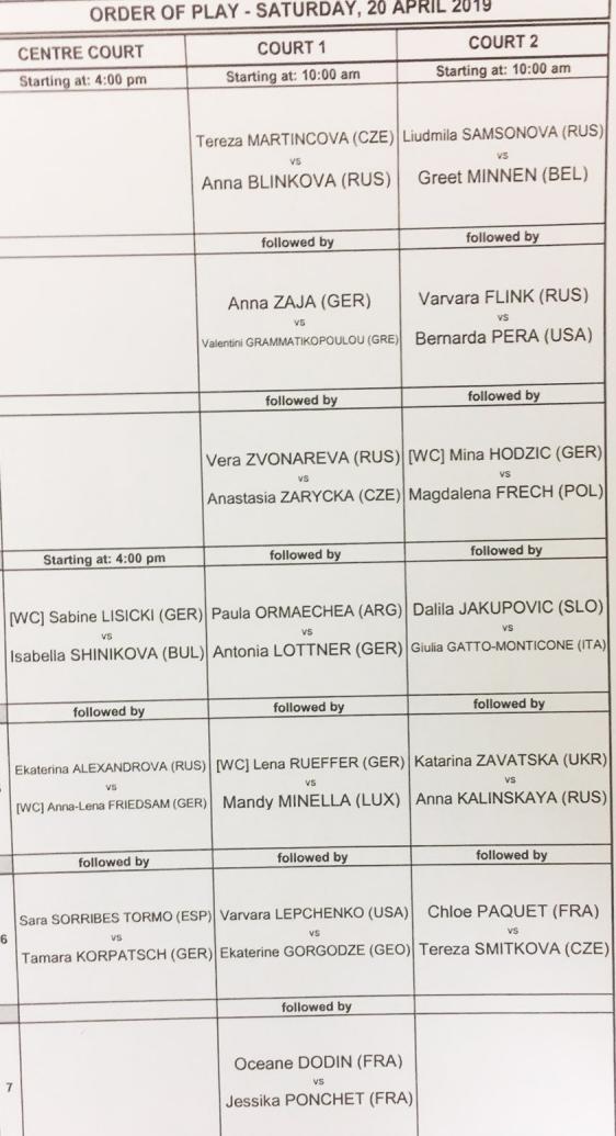 WTA STUTTGART 2019 Unti2675