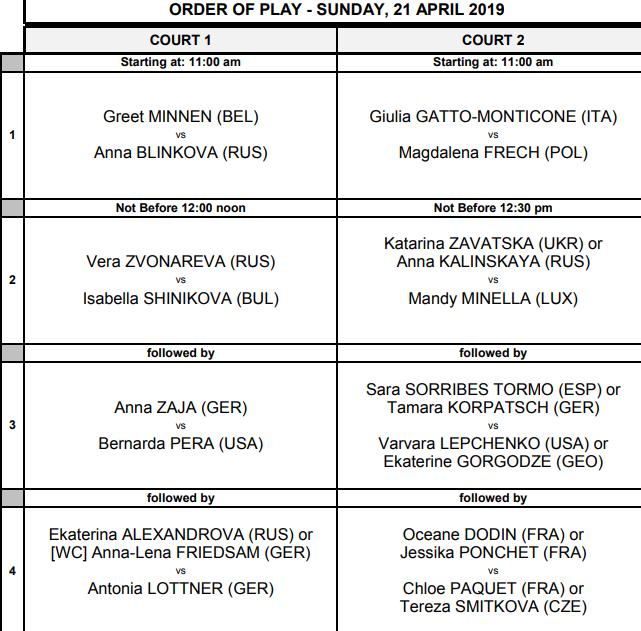 WTA STUTTGART 2019 Unti2685
