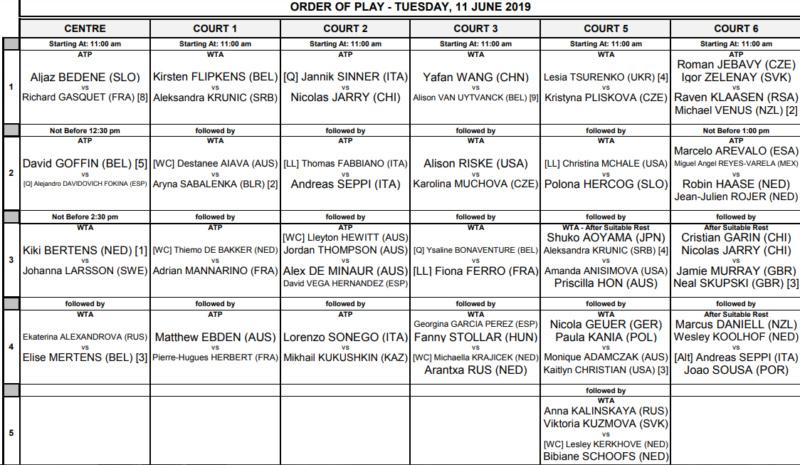 WTA 'S-HERTOGENBOSCH 2019 Unti3013