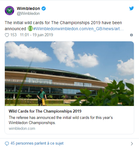 WIMBLEDON 2019 les infos Unti3098