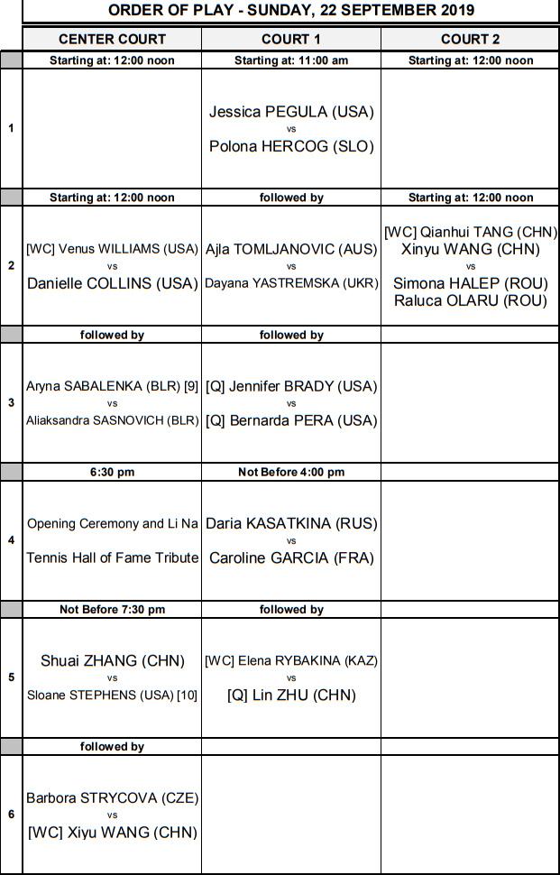 WTA WUHAN 2019 Untit918