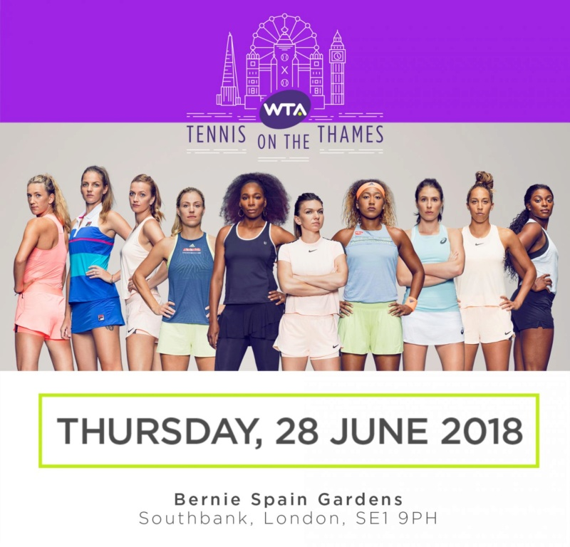 Tennis on the Thames, le 28 juin 2018 à Londres Wta-to10