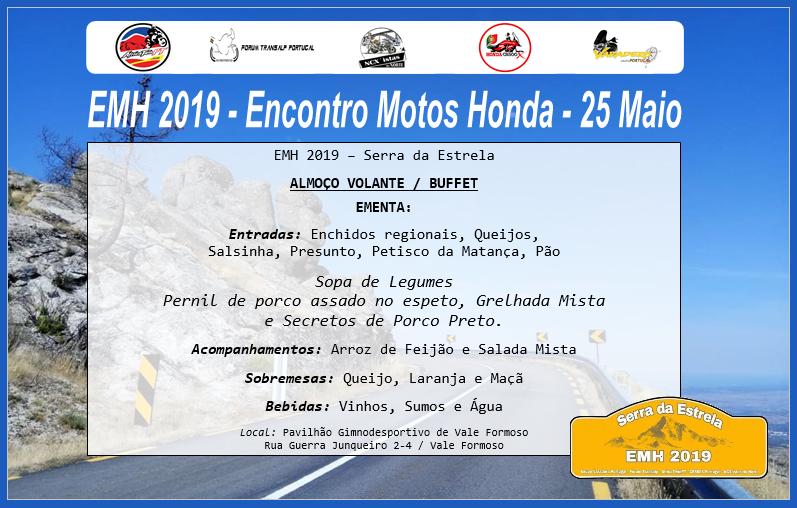 EMH 2019 - Encontro Modelos Honda - 25 Maio Ementa10