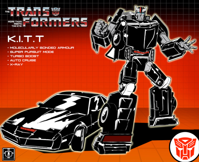 Jouets Transformers Crossover (Croisement) transformable ― Marvel, Star Wars, Street Fighter, Disney, Playstation, Montre, Téléphone, Tablette, etc - Page 7 Kitt_t11