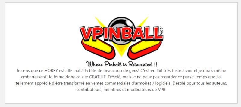 [INFO] VPINBALL - c'est fini ?!? Vp00210