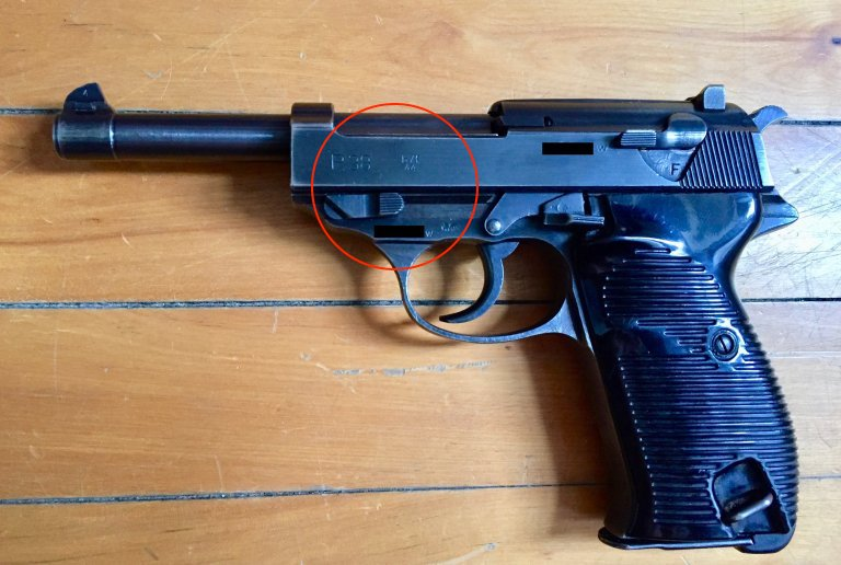Walther P.38 Marquages en blanc Walthe11
