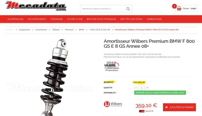 [Commande groupée] Amortisseur wilbers Wilber11