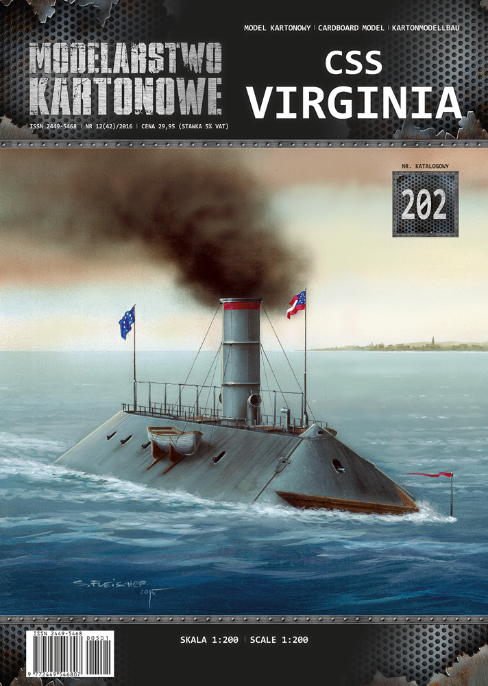 CSS VIRGINIA 1/200 de MODELARSTWO KARTONOWE 119