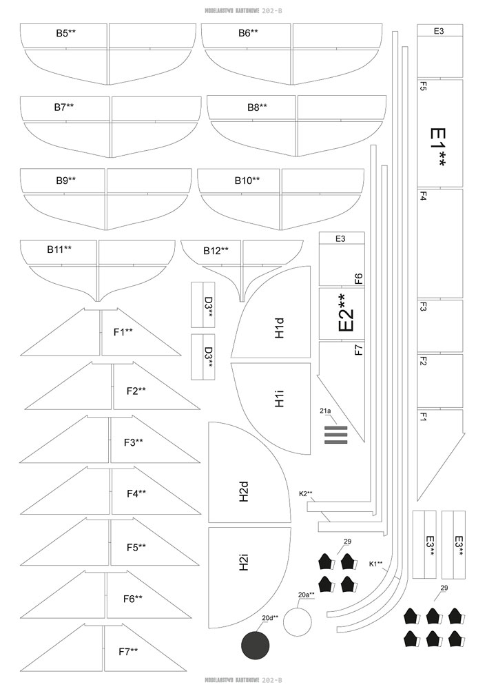 CSS VIRGINIA 1/200 de MODELARSTWO KARTONOWE 217