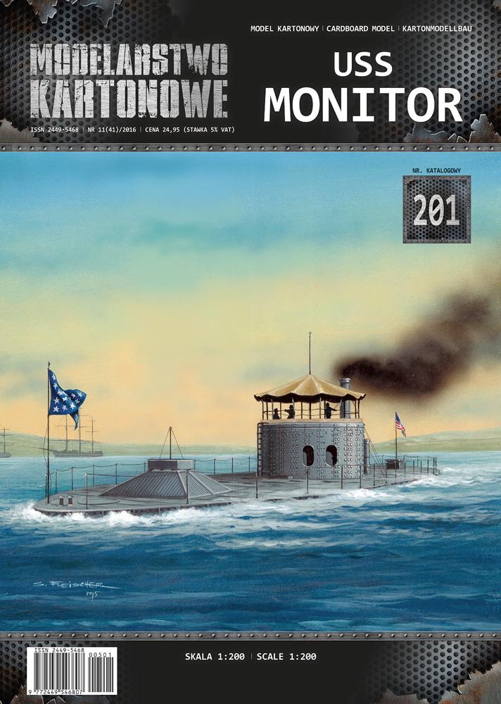 USS MONITOR 1/200 de MODELARSTWO KARTONOWE 22893_12