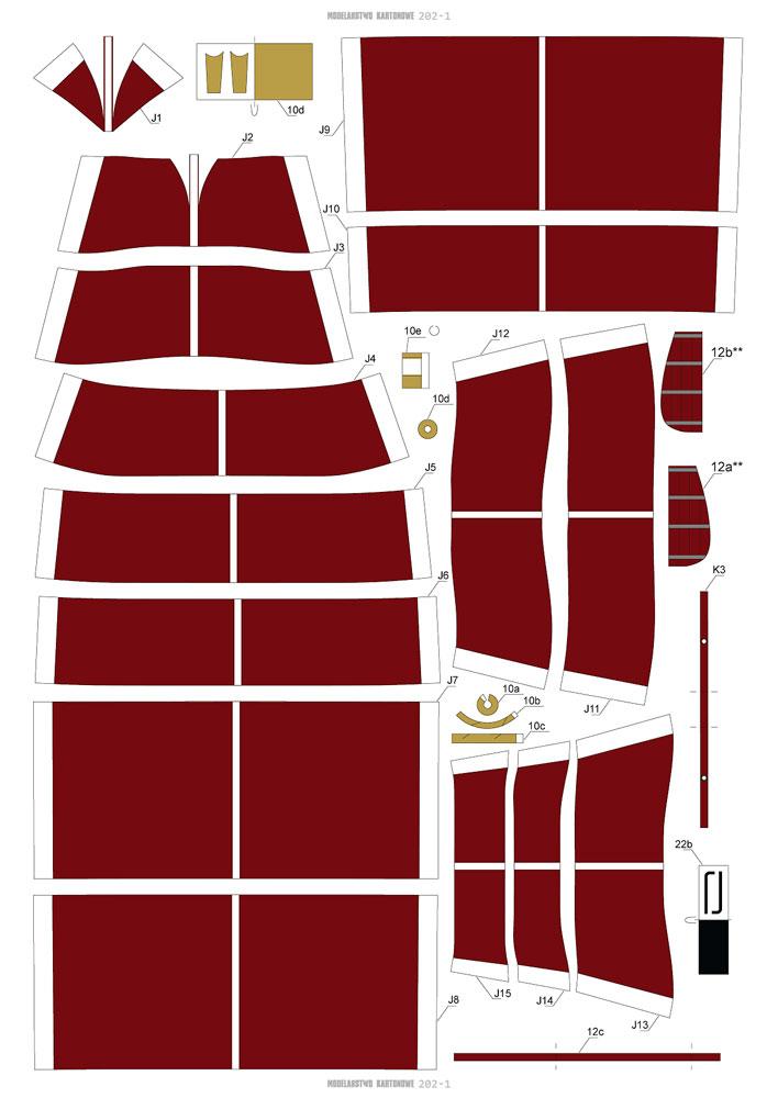 CSS VIRGINIA 1/200 de MODELARSTWO KARTONOWE 416