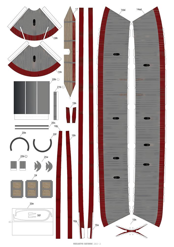CSS VIRGINIA 1/200 de MODELARSTWO KARTONOWE 514